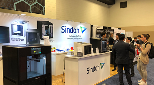 Sindoh presents products and technologies at Rapid+TCT 2018